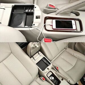 Car Armrest Storage Box for Nissan Sentra Pulsar 2013-2017 Central Console Tray