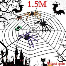 1.5m Giant Halloween Horror Party Black Rope Spider Web Outdoor Decoration G