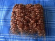 REBORN DOLL, MOHAIR WEFTS, RED BLOND