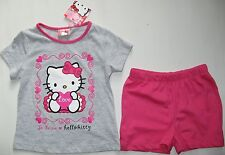 * HELLO KITTY * LOVE * SHORTY-SET, PYJAMA, SCHLAFANZUG, GR. 98 / 3 ANS, NEU