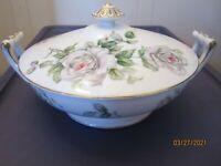 Vintage Craftsman China Japan Covered Vegetable Serving Dish Tureen Floral