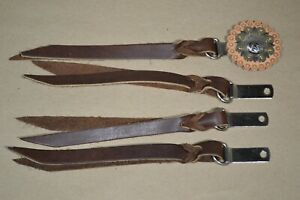 """Decorative Saddle strings - Chocolate - 1/2"""" x 7"""" w/ Clip & Dee - 4 pack  (E464)"""