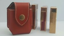 ST DuPont Lighter Case Red Leather Fits Line 1 Large Line 2 & Zippo New ##7