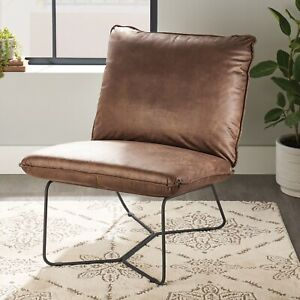 Brown Faux Leather Chair
