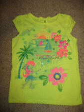 Girls' 4 Sonoma Cap Sleeve T-shirt Tank Top Tropical Paradise Luau Yellow Beach