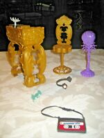 Monster High Lot ~ 13 Wishes DJ Party Lounge Replacement Furniture & Accessories