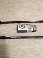 Black Diamond Vapor Carbon Ski Poles 135 CM 337 G Per Pair. 1 Replacement Pole