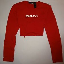 WOMEN'S S, RED, BACKLESS, TIE, CROP TOP BY DKNY!