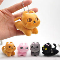 Cute Cat Soft Stuffed Plush Toy Keychain Keyring Fob Cushion Nice