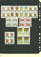 Collection lot/ 1998-2000  8&9th  definitive set  MNH   ( Overprints ) BLOCK