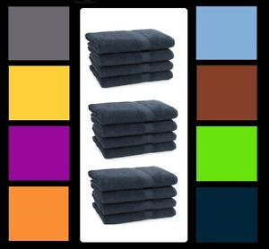12 Soft Hand Towels Thick Multipurpose Cotton Towels Set 600 GSM Quick Dry