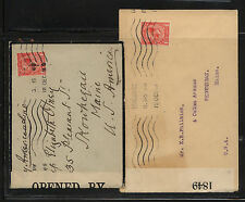 Great Britian 2 221 censor covers, one mourning cover Kl0401