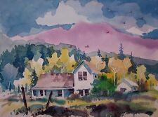"""ABANDONED HOUSE""  original watercolor by American artist Micheal Jones"