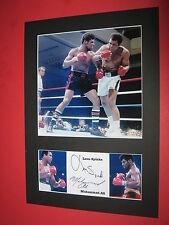 Muhammad Ali & LEON SPINKS BOXING A4 foto Montaggio Firmato RISTAMPA AUTOGRAFI