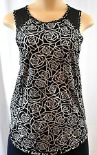 NWT Lululemon Sculpt Tank Posey Black White CDSW/BLK Run Top Sz 4 6 8 NEW UPF 50