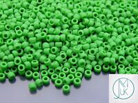 300 beads #7370 Size 8 3mm Opaque Frosted Jet Toho Seed Beads