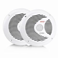 Dual Marine Speakers Waterproof Full Range Sound Stereo 150W White Pair 6 Inches