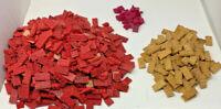 Lot 10 lbs Vintage Halsam Wood American Bricks Red White Purple CLEAN (19-2048)