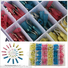 240pc Assorted Heat Shrink Butt Electrical Wire Crimp Terminal Connectors w/Case