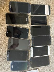Samsung Parts Lot Of 12.  Most Screens Are Intact.  Used For Parts Only.
