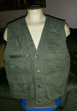 WOOLRICH MENS CANVAS ARMY GREEN FLY FISHING HUNTING VEST M JACKET SPORT HUNTING