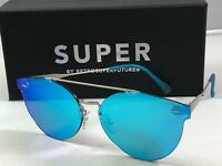 RetroSuperFuture Tuttolente W Blue Frame Sunglasses MIM 58mm NIB