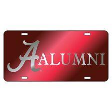 ALABAMA CRIMSON TIDE Crimson Mirrored ALUMNI License Plate / Car Tag