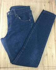 USED Womens 28 Forever 21 Dark Washed Navy Blue Slim Fit Pants Jeans Denim Great