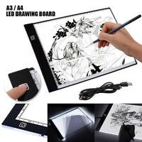 A3/A4 USB LED Caja de Luz Tattoo Artist Plantilla Tablero Mesa Dibujo Trazos