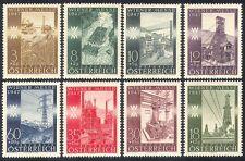 Austria 1947 Industria/Olio/carbone miniera/elettricità/FONDERIA/Trattore/Fair 8v n39841