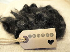 30g(approx.1oz) MOHAIR..  BLACK - waves