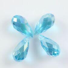 Pendants 10 Pcs Swaro-element 6*12mm Teardrop Crystal beads E Sky-blue AB