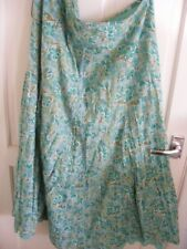 M&S PER UNA GREEN FLOWERS SKIRT SIZE 18L