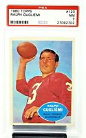 1960 Topps #123 Washington Redskins RALPH GUGLIEMI Football Card PSA 7 NEAR MINT