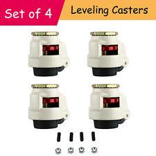 "4Pcs Workbench Retractable Leveling Swivel Casters Heavy Duty 1102lbs 2.5"" GD80S"
