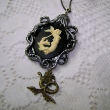 OCTOPUS PENDANT SAILOR JERRY STYLE TATTOO MERMAID CAMEO NECKLACE HALLOWEEN