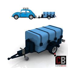 BAUANLEITUNG Eigenbau PDF Anhänger mit Plane für LEGO® Steine zB VW Beetle 10252