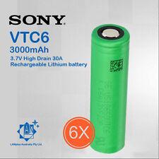 2x Sony 18650 VTC6 Lithium Battery 3000mah 3.7v High Drain 30a Nipple Top Batter