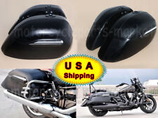USA Motorcycle Black Hard Saddle Bag Trunk Case for Yamaha Suzuki Kawasaki Honda