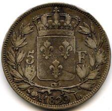 Charles X (1824-1830) 5 Francs 2e Type 1829 L Bayonne