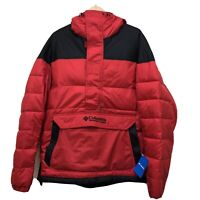 Men's XL Columbia Lodge Pullover Insulated Puffer Jacket Red Black New With Tags