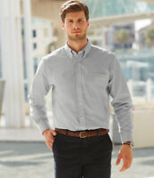 Fruit of the Loom - Long Sleeve Oxford Shirt - SS402 - Button Down Collar