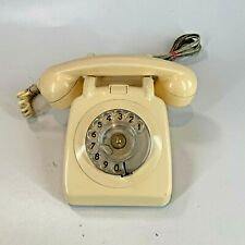 Vintage 1970s Retro Dial Telephone - Cream - Tested & Working - FAST POSTAGE