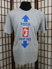 David n Goliath XXL 2XL Beer In Beer Out Shirt Drinking Humor Summer Beach Party