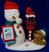 Hallmark 2013 MERRY CAROLERS Trio Snowman Dog Cardinal Bird Jingle Pals Animated