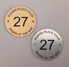 60mm posizionare il tuo ordine al tavolo bar numeri Pub Club RISTORANTE HOTEL