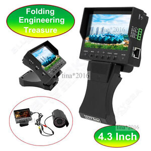 """4.3"""" TFT LCD Handy CCTV Camera Audio Video Security Tester Cable Test Monitor"""