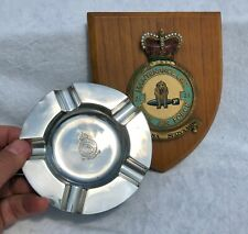 More details for solid silver raf royal air force maintenance unit / service ashtray + plaque