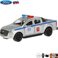 1:36 Scale Diecast Metal Model Police Car Ford Ranger Pickup Truck Die-cast Toy
