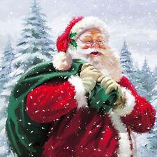 Ambiente Paper Napkins Serviettes Ho Ho Ho! Traditional Santa Father Christmas